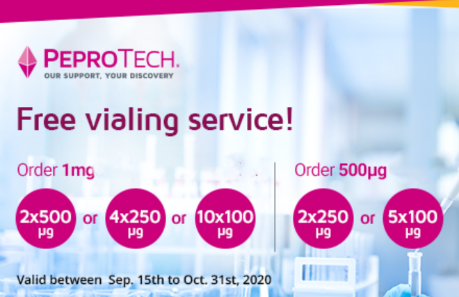 PeproTech Complimentary Vialing Service